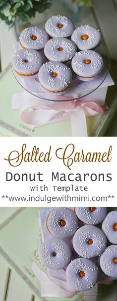 Easy Salted Caramel Donut Macarons with Donut Template