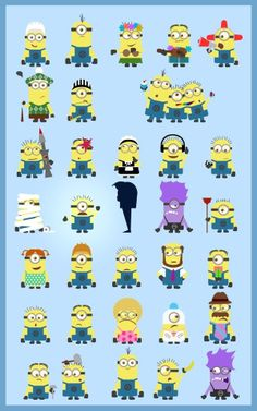 Despicable Me Minion Names Chart Minion From Despicable