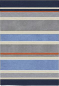 Bright Color Pallets, Grey Rugs, Blue Rugs, Contemporary Area Rugs, Striped Rug, Hand Tufted Rugs, Boy Room, Child's Room, Midnight Blue