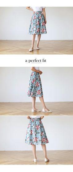 フローラルフレアミディスカート・全2色ワンピース・スカートスカート|大人のレディースファッション通販 HIHOLLIハイホリ [トレンドをプラスした素敵な大人スタイル]