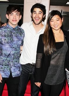 Three of my favourite people in glee!!! (Well there all my favourite... But still!) <3