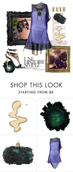 """""""A History of Style"""" by aclaire ❤ liked on Polyvore featuring Topshop, Une, Roberto Cavalli, Alexander McQueen, Ann Demeulemeester, Auden, box clutches, black and gold, robert cavalli and mcqueen"""