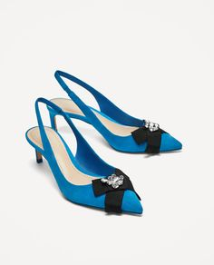 Image 1 of SLINGBACK HIGH HEEL LEATHER SHOES from Zara
