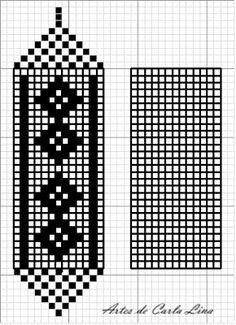 Filet Crochet Charts, Crochet Diagram, Crochet Stitches, Crochet Patterns, Neck Designs For Suits, Diy Home Crafts, Crochet Home, Tissue Boxes, Bookmarks