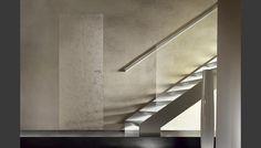 Een lijstloze deur met bijzondere structuur van Barausse, producent van luxe deuren