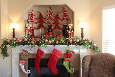 331 Home Holiday Mantel Christmas Decorations In One Place