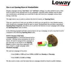 How to set Opening Hours in WombatDialer for Asterisk  Find out how in this new Loway free e-book: https://www.loway.ch/ebooks.jsp