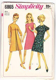 Vintage 1966 Simplicity 6865 UNCUT Sewing by SewUniqueClassique