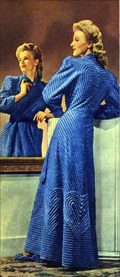 Chenille Bathrobe, 1940s. - I want one of these so bad!