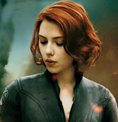 Hairstyles for Wavy Short Hair. Scarlett Johannsen as Black Widow. Not 50-something.  But (except for the color) - hair like mine.