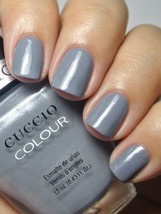 """Cuccio Colours - Soaked in Seattle. This is described as a """"cool gray."""""""