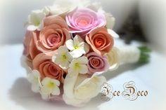 handmade deco clay wedding bouquet