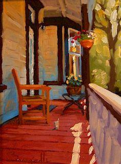 """Ode to Summer #1,"" by Larry Bracegirdle 6 x 8 - oil"