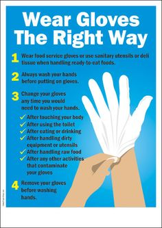 Great information on how to wear gloves correctly - they are not magic remember!