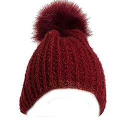 WT001 Solid Stretchy Hole Beanie in Rust