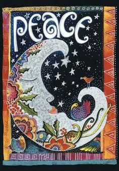 """""""Peace"""" -- part of Laurel Burch Playful Creations collection of writing journals Laurel Burch, Sun Moon Stars, My Sun And Stars, Hippie Peace, Hippie Love, Journal D'art, Sketch Journal, Moon Magic, Peace On Earth"""