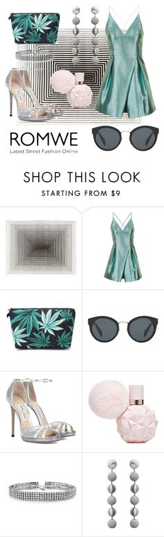"""""""green"""" by marinachanel ❤ liked on Polyvore featuring Topshop, Prada, Jimmy Choo, Bling Jewelry and Rebecca de Ravenel"""