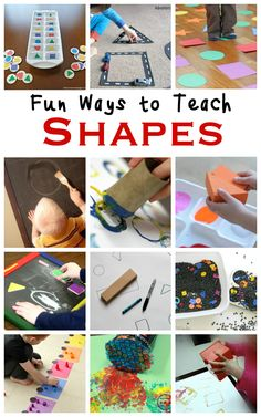 Simple Shape Activities for Preschoolers - Teaching 2 and 3 Year Olds