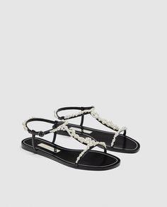 63496f7d795291 PALA DETALLE PERLAS. Pearl SandalsWomen s Shoes SandalsFlat ...
