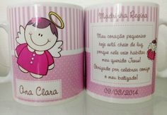 Canecas Personalizadas De Batizado | Canecas by Luciana Godoy | Elo7