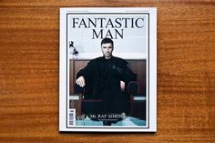 Raf Simons on the cover of Fantastic Man