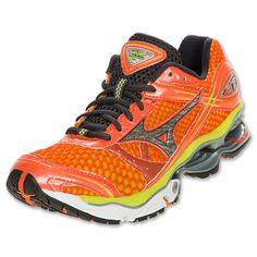 Mizuno Wave Creation 13 Women's Running Shoes| FinishLine.com | Sun Orange/Silver/Wild Lime