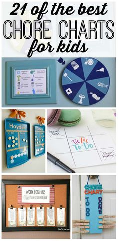 21 effective and super creative chore charts to keep your family organized and your house clean.