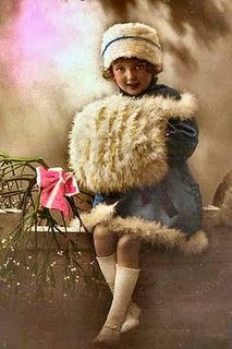 .Little Victorian Girl with muff