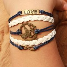 Hunger Games Infinity Love Braided Bracelet - Mythical Merch