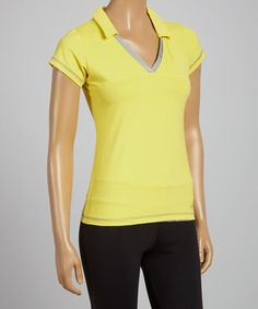 Love this Yellow Polo by Sofibella on #zulily! #zulilyfinds