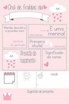 Invitation rain of love template card pink and white My Baby Girl, Baby Love, Happy Birthday Art, Chalkboard Baby, Baby Posters, Baby Shower Cards, Baby Disney, Baby Names, Baby Kids