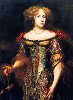 The Princess Palatine Elizabeth Charlotte was a German princess and the wife of Monsieur, Philippe I, Duke of Orléans, younger brother of Louis XIV of France. Mother of France's ruler during the Regency. French History, European History, Art History, American History, Louis Xiv, Roi Louis, Marie Antoinette, Ludwig Xiv, 17th Century Fashion