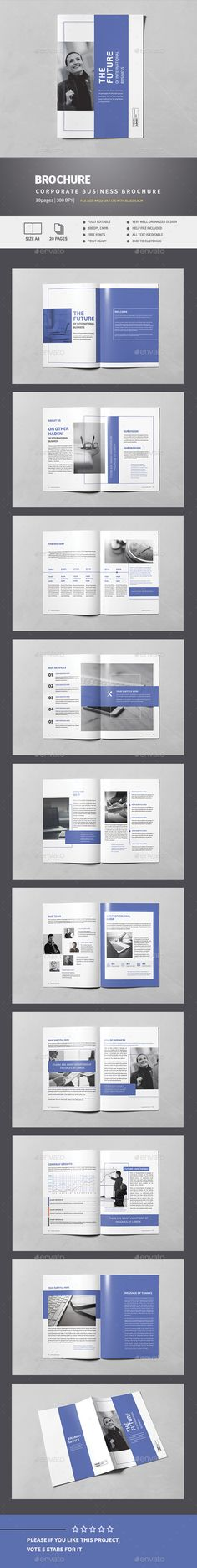 Indigo Business Brochure Template InDesign INDD. Download here…