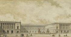 circa 1781 reconstruction of versailles palace Versailles Hall Of Mirrors, Chateau Versailles, Palace Of Versailles, Architecture Drawings, Architecture Details, Monuments, Glasgow City, Tower Building, French History