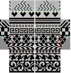 knit or crochet - Modular Mittens by free Knitting Charts, Knitting Stitches, Hand Knitting, Knitting Patterns, Knitted Mittens Pattern, Knit Mittens, Knitted Gloves, Fair Isle Chart, Mochila Crochet