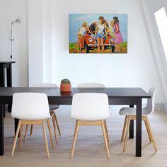 Breng wat kleur in je interieur! Interieur | Schilderijen | Wonen | Interieurideeen | Interieur woonkamer | Decoratie | Woondecoratie | Schilderij woonkamer | Schilderijen abstract | Kever | Beatle