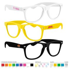 These retro geek glasses make a unique party favor! Perfect for trade shows…