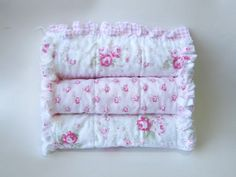Pink Baby Girl Burp Cloths Shabby Cottage by LittleTreasureQuilts, $33.00
