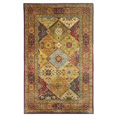 Hand-tufted New Zealand wool rug with a patchwork Persian-inspired rug.  Product: RugConstruction Material: 100%...