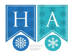 Personalized Frozen Snowflake Birthday Banner printable for a Frozen Birthday Party: edit & print yourself for your little Elsa, no waiting!