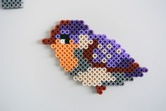 Doorplates – Doorplate with Name and Bird – a unique product from sWare on … – Bügelperlen – Hama Beads Perler Bead Designs, Pearler Bead Patterns, Perler Bead Art, Perler Patterns, Pearler Beads, Fuse Beads, Craft Patterns, Hannah Design, Pixel Art