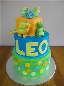 Baby Dinosaurs Baby Shower Cake