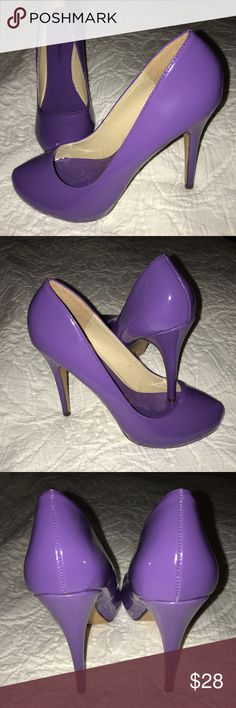 NWOT/B.  Just fab purple pumps NWOT, never used- Just fab purple closed-toed pumps in excellent condition. JustFab Shoes Heels