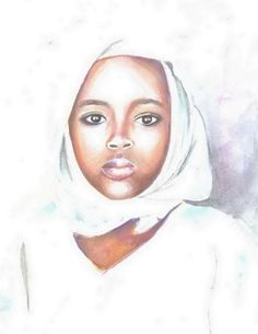 Shop original art created by thousands of emerging artists from around the world. Buy original art worry free with our 7 day money back guarantee. Painting Of Girl, Paintings I Love, Nigerian Girls, Original Art For Sale, Watercolor Portraits, Beauty Art, Beautiful Children, Black Is Beautiful, African Art