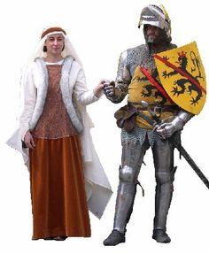 """Guillaume II de Namur, dit """"le Riche"""" et sa femme Catherine de Savoie (Reconstitution moderne)"""