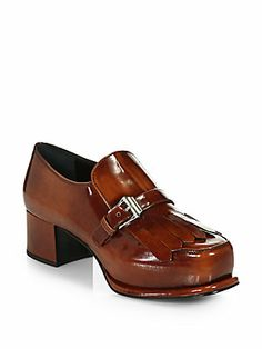 Prada Leather Buckle Oxford Pumps....these are beautiful, love the style and color.