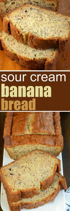 Add a little texture and tang to your breakfast with this Sour Cream Banana Bread. The addition of sour cream in this recipe is pure genius for the most delicious, moist slice of banana bread!
