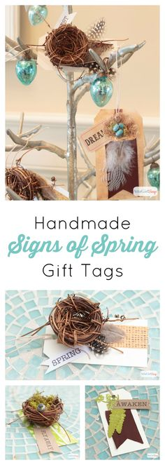 Learn how to make these pretty handmade gift tags in less than 10 minutes. Use them for gifts or as part of your spring decorating. #TriplePFeature