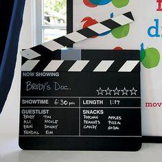 Chalk Movie Sign #potterybarnteen