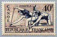 Canoë Jeux Olympiques d´Helsinki 1952 - Timbre de 1953